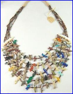 $1,250. Amazing Vtg Tony Lualla / Mary Ann Tully 5 Strand Animal Fetish Necklace