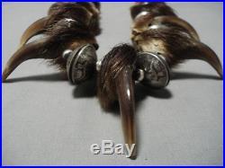 335 Grams Opulent Vintage Sterling Silver Squash Blossom Necklace