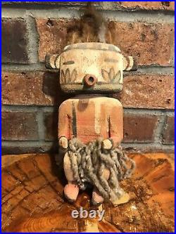 Antique Vintage Hopi Kachina Doll Early 1900s Carved & Painted Cottonwood