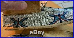 Antique/Vintage Native American Beaded Moccasins. Sioux. Lane Stitch