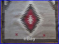 Antique Vintage Native American Indian Rug Blanket 35 By 22 Inches Navajo Art
