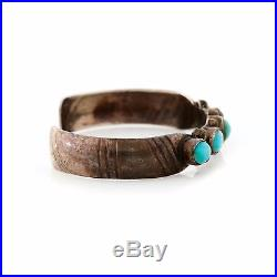 Antique Vintage Native Navajo Sterling Silver Royston Turquoise Cuff Bracelet
