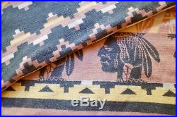 Beacon Camp Blanket INDIAN CHIEF Vintage Cotton Native American COLLECTORS
