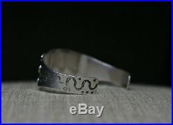 Beautiful Vintage Harvey Era Navajo Sterling Silver Turquoise Cuff Bracelet