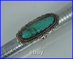 Big Navajo Turquoise Sterling Ring Old Pawn Vintage Large Native American Sz 10