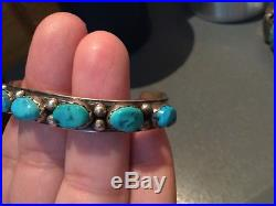 Dead Pawn Vintage Tony Guerro Navajo Sterling Silver Turquoise Signed Cuff