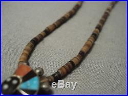 Earlier 1900's Vintage Zuni Spirit Dancer Silver Necklace Old