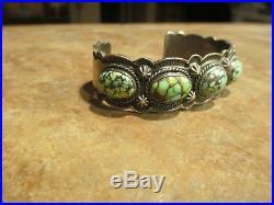 Elegant Vintage Gary Reeves (d.) Navajo Sterling DAMELE Turquoise Bracelet