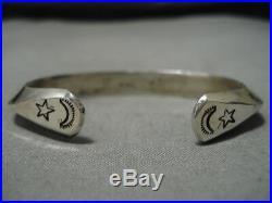 Exceptional Vintage Navajo Sterling Silver Native American Bracelet Cuff