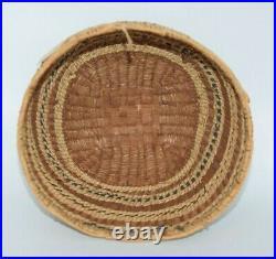 Fine Vintage Northwest Coast Quileute Native American Basket Tag Soleduck River