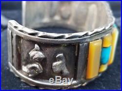 Four Old Vintage Sterling Silver Cuff Bracelets Lot