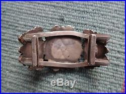 Glorious Old Vintage ZUNI Sterling Silver Petit Point Cluster Cuff BRACELET