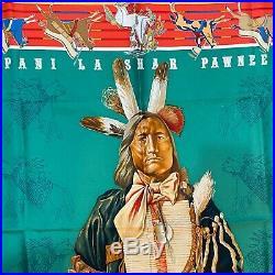 HERMES Vintage Pani La Shar Pawnee Silk Scarf 90cm