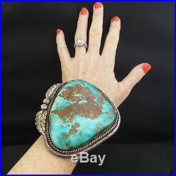 HUGE KILLER Vintage Navajo Turquoise Cuff Bracelet 349g