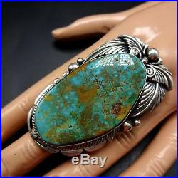 HUGE STATEMENT RING Vintage NAVAJO Sterling Silver and TURQUOISE, size 10.75
