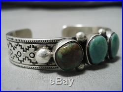 Henry Smith Vintage Navajo Royston Turquoise Sterling Silver Bracelet