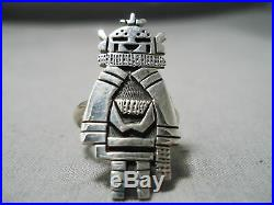 Important Vintage Hopi Sterling Silver Native American Kachina Ring