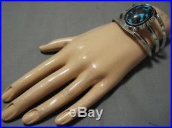 Incredible Vintage Navajo Bisbee Turquoise Sterling Silver Bracelet Old
