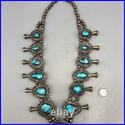 Large Vintage Bisbee Squash Blossom Necklace