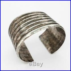 Large Vintage Old Pawn Navajo Native American Sterling Silver Cuff Bracelet