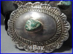 Magnificent Vintage Hopi Lew Kagenvema Sterling Silver Concho Belt Old