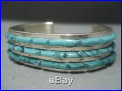 Magnificent Vintage Zuni Turquoise Sterling Silver Native American Bracelet