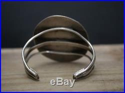 Massive Bracelet Vintage Native American Navajo Sterling Silver Turquoise Cuff