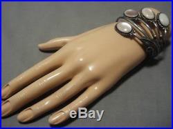 Museum Quality! Vintage Navajo Pink Shell Sterling Silver Bracelet Old