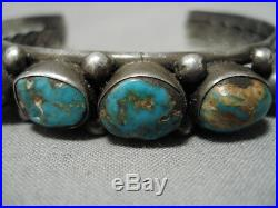 Museum Vintage Navajo Rare Turquoise Sterling Silver Bracelet Old