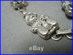 Museum Vintage Navajo Storyteller Sterling Silver Necklace Old