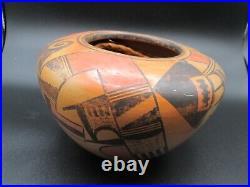 Native American Vintage Hopi Fannie Nampeyo Polychrome Large Pottery Bowl