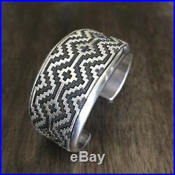 Native American Vintage Navajo Sterling Silver Cuff Bracelet. By Dan Jackson