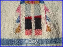 Native American Vintage c. 1930's Navajo Yei Rug 54 x 27 ON SALE