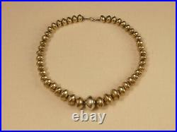 Navajo Pearls Sterling Graduated Bead Necklace Ly Vintage Tucson Estate