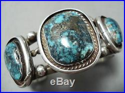 Old Morenci Vintage Navajo Turquoise Sterling Silver Bracelet Jewelry