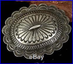 Old Pawn Vintage NAVAJO Handmade Sterling Silver Belt Buckle by CARSON BLACKGOAT