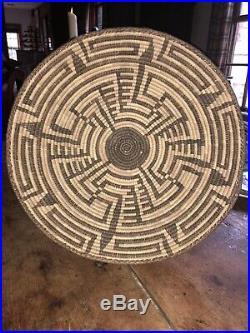 Old Vintage Native American Indian Large 16 Basket Charger Coiled Design