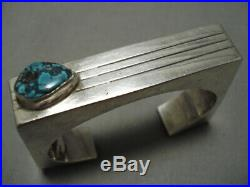 One Of The Best Vintage Navajo Contemporist Turquoise Sterling Silver Bracelet