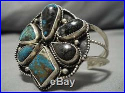 Opulent Vintage Navajo Bisbee Royston Turquoise Sterling Silver Bracelet Old