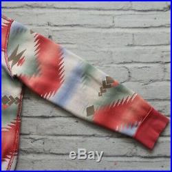 Polo Ralph Lauren Native American Cardigan Hoody Sweatshirt Size L Aztec Vtg