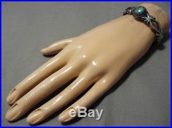 Rare Vintage Navajo Royston Turquoise Sterling Silver Bracelet