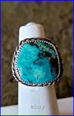 Ring Lot of 8 Sterling Vintage Retro Navjo Turquoise Old Pawn Southwest Style