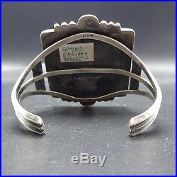 Signed Vintage NAVAJO Sterling Silver & Huge ROYSTON TURQUOISE Cuff BRACELET 80g