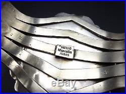 Signed Vintage NAVAJO Sterling Silver & Huge Webbed TURQUOISE Cuff BRACELET 94g