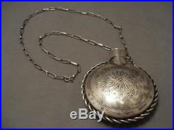 Smithsonian Quality Vintage Ben Nighthorse Campbell Silver Canteen Necklace