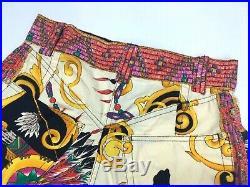 VERSACE J COUTURE VINTAGE'90s NAVAJO AMERICAN NATIVE SHORTS PANTS BAROQUE JEANS