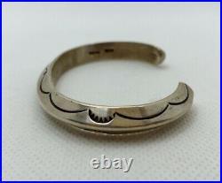 VTG Signed TAHE Native American Navajo Sterling Silver Cuff Bracelet 35.7g #ydc