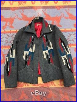 Vintage 1930s 1940s Chimayo Native American Wool Jacket