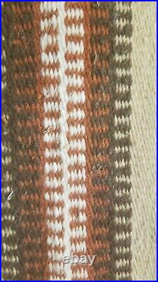 Vintage 1930s Native American Navajo Style Hand Woven YEI Rug 61 by 31.5