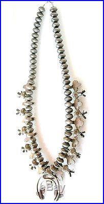 Vintage 1950s Coin Silver MERCURY DIMES Turquoise Squash Blossom Necklace 477gr